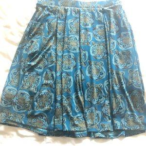 LuLaRoe Madison tiger print skirt XL